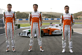 Vitantonio Liuzzi, Adrian Sutil and Paul di Resta