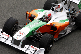 Tonio Liuzzi, Force India, Jerez testing February 2010