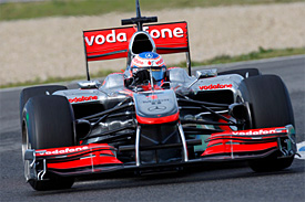 Jenson Button, McLaren, Jerez testing