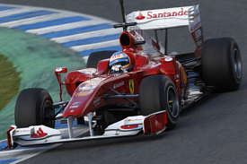 Fernando Alonso testing at Jerez on Thursday