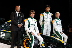 Team Lotus launch, London, 2010