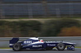 Rubens Barrichello, Williams, Jerez testing February 2010