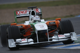 Adrian Sutil, Force India, Jerez testing February 2010