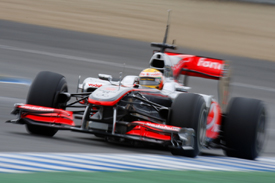 Lewis Hamilton, McLaren, Jerez testing February 2010