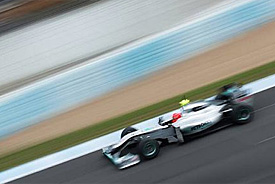 Michael Schumacher, Mercedes GP, Jerez testing