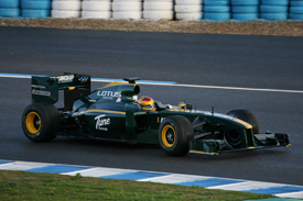 Fairuz Fauzy, Lotus, Jerez testing February 2010