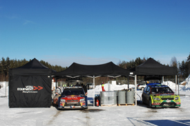 Mikko Hirvonen and Sebastien Loeb, Rally Sweden 2010