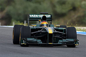 Fauriz Fauzy, Lotus, Jerez testing