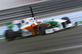 Paul di Resta, Force India, Jerez test, 2010