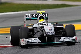 Nico Rosberg, Mercedes GP, Barcelona testing