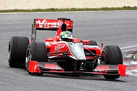 Lucas di Grassi, Virgin Racing, Barcelona test 2010