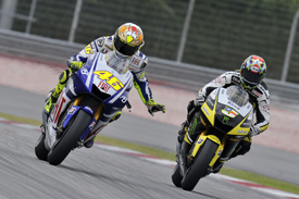 Valentino Rossi and Colin Edwards, Sepang testing 2010