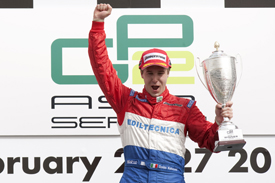 Davide Valsecchi claims the 2010 GP2 Asia title