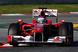 Fernando Alonso, Ferrari, Barcelona testing