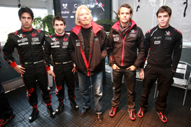 Virgin line-up at Catalunya