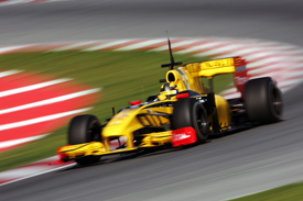 Robert Kubica, Renault, Catalunya testing February 2010