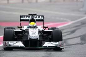 Nico Rosberg, Mercedes, Catalunya testing February 2010