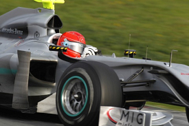 Michael Schumacher, Mercedes W01, Barcelona test, 2010