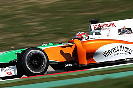 Tonio Liuzzi, Force India, Barcelona testing