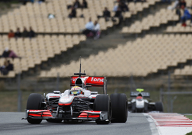 Lewis Hamilton leads Michael Schumacher in testing
