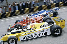 Jabouille, Villeneuve and Pironi, Brazil 1980