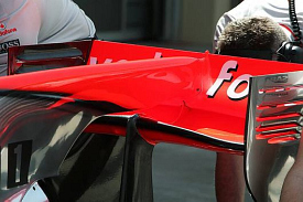 McLaren MP4-25 rear wing
