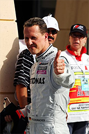 Michael Schumacher, Mercedes GP, Barcelona testing