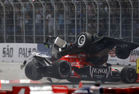 Mario Moraes and Marco Andretti collide in Sao Paulo