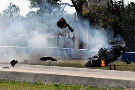 Jon Field crashes in Sebring testing