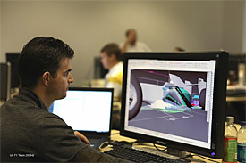 US F1 design office