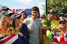 Mark Webber meets Australian fans