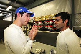 HRT drivers Chandhok and Senna