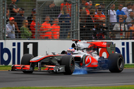 Jenson Button, McLaren, Melbourne 2010
