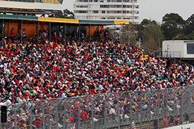 Fans at Albert park