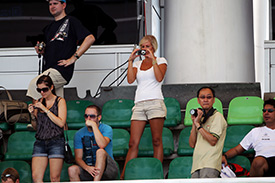 Fans in the stands at Sepang