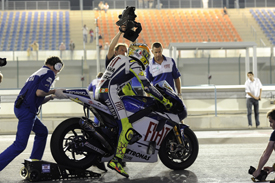 Valentino Rossi, Yamaha, Losail testing March 2010