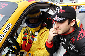 Timo Glock chats with Porsche winner Christian Menzel
