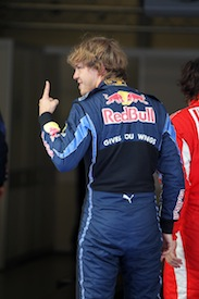 Vettel celebrates another pole