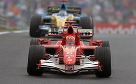 Schumacher celebrates his last win in 2006