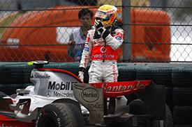 Hamilton's 2007 title campain ran aground in the pitlane gravel