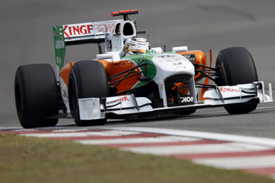 Adrian Sutil, Force India, Shanghai 2010