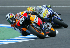 Dani Pedrosa leads at Jerez
