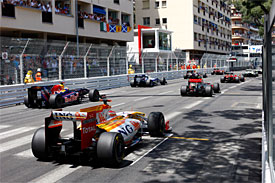 2009 Monaco GP start
