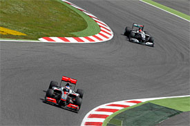 Jenson Button, Michael Schumacher, Spanish GP