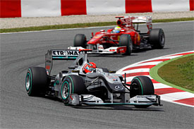 Michael Schumacher, Mercedes, Spanish GP