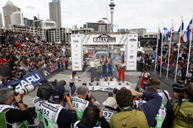 Rally New Zealand podium 2010