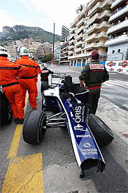 Nico Hulkenberg's car at Monaco