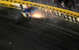 Kyle Busch crashes in the All-Star race