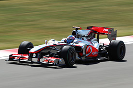 Jenson Button topped the afternoon times