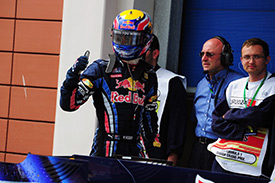 A pole hat-trick for Mark Webber